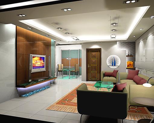 不到100平方,报价八万多的客厅效果图 轻松装修 爱威海社区