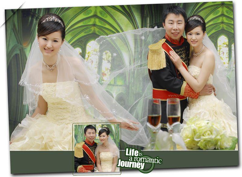 朋友的婚纱照设计版面 唯美风格 纯影楼而不是工作室风格