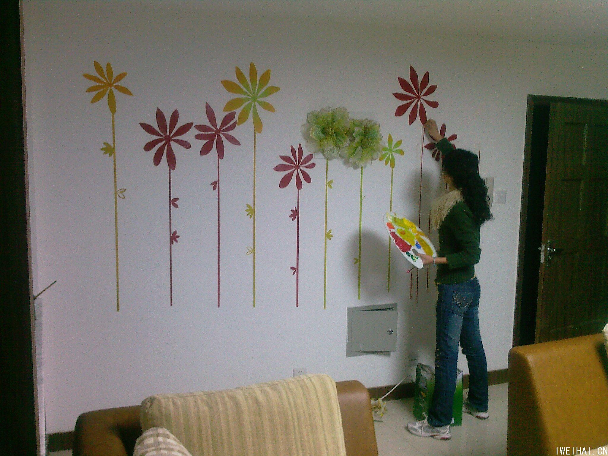幼儿园手工布置墙面房子