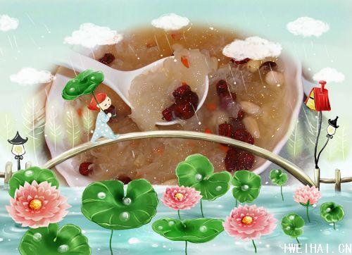 时候凉了   八宝饭 我喜欢吃 莲子 银耳 葡萄干,甜甜的.   海鲜小炒 炒的