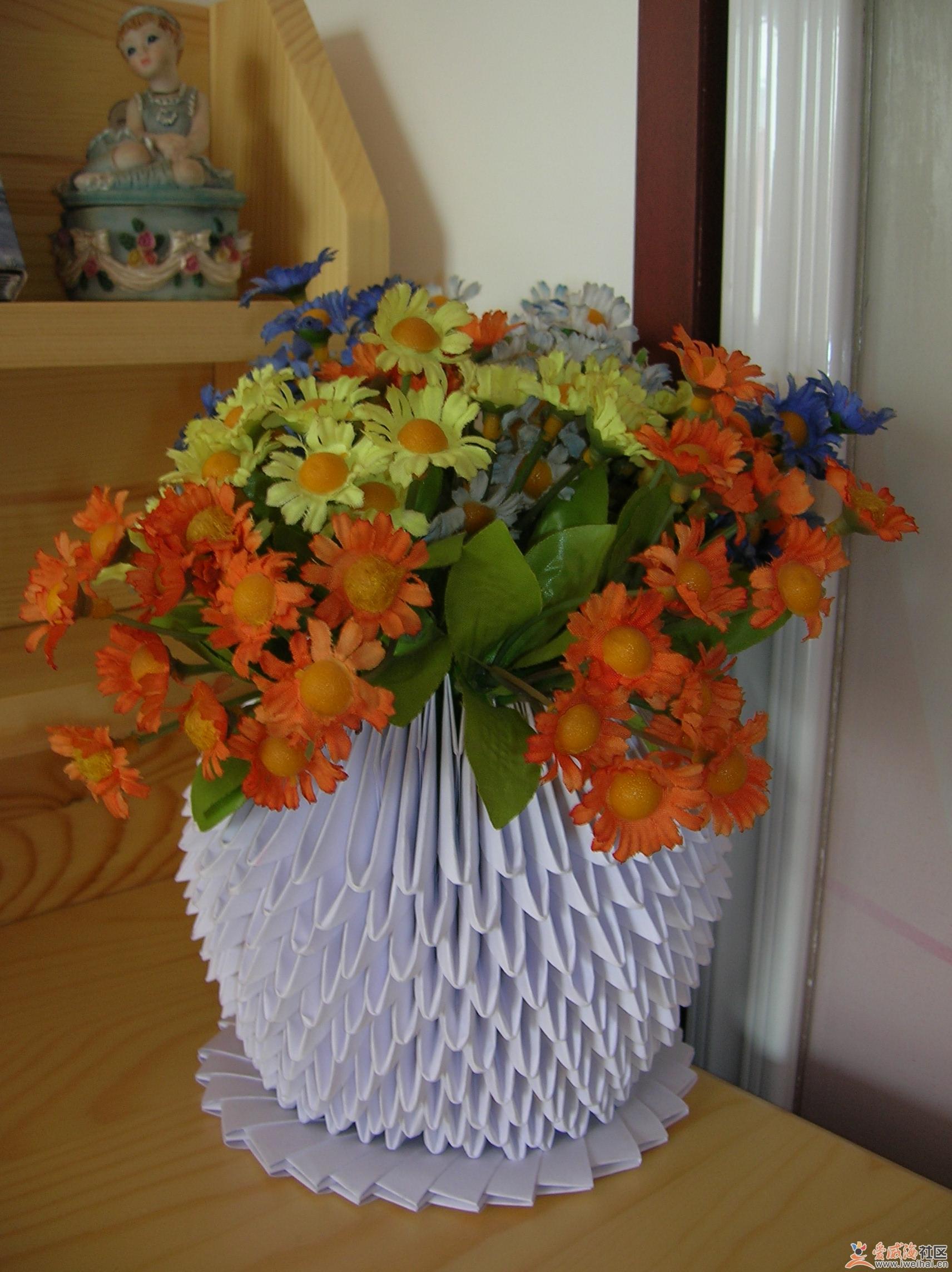 挂袋+三角插花瓶