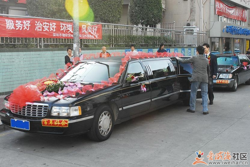 新款加长凯迪拉克婚车 装车 婚庆一条龙服务高清图片