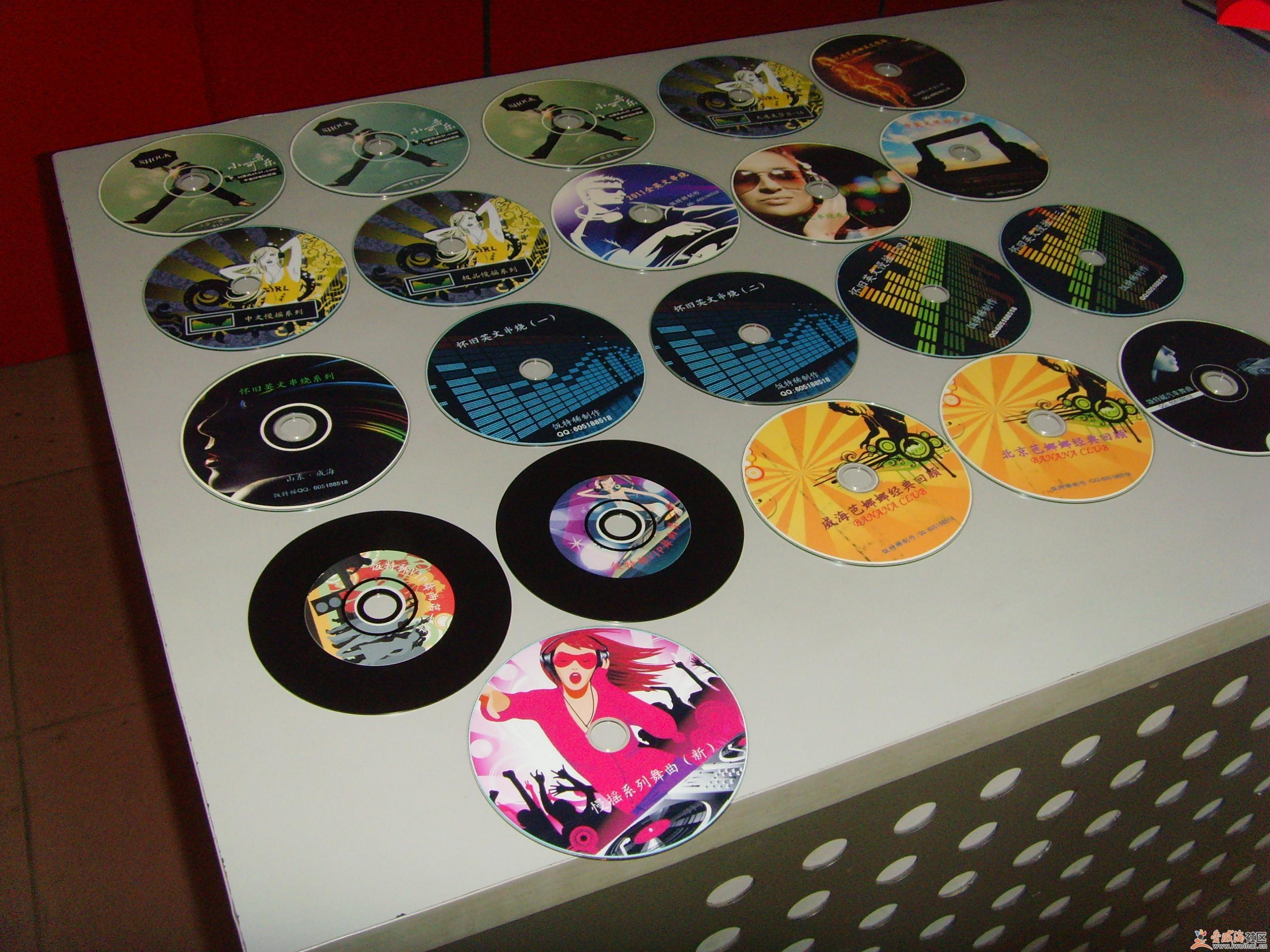 自拍车上的CD,手工制作图片